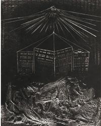 photogramme pour le château étoilé d'andré breton: a flanc d'abime, construit en pierre philosophale by man ray and max ernst