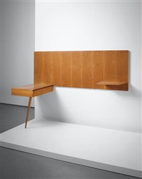 unique wall-mounted shelf-unit, designed for an office of a law firm, milan by gio ponti