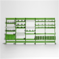 shelving system from the administrative offices at the centre georges pompidou (in 6 parts) by richard rogers and renzo piano