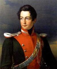 portrait eines jungen offiziers by johann heinrich richter