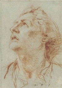 a head of a man in profile, looking to the left by giovanni battista tiepolo