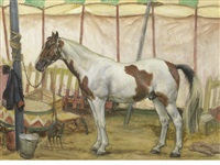 the circus horse by dame laura knight