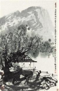 春风细柳 (spring landscape) by cui ruzhuo