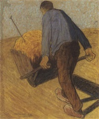 man with wheelbarrow by cornelis albert van assendelft