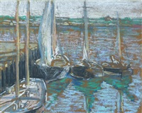 sailboats at cape ann by charles salis kaelin