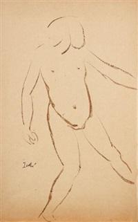 fillette nue à la balle (study) by rené iché