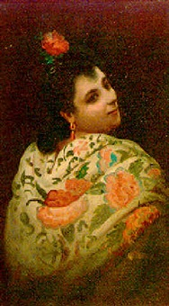 mujer andaluza by adolfo aguila acosta