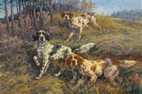 three hunting dogs by edmund henry osthaus