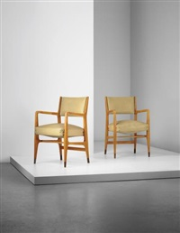pair of armchairs, model no. 110, from an office of a law firm, milan by gio ponti