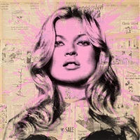 cover girl (kate moss) by mr. brainwash