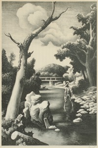 shallow creek by thomas hart benton