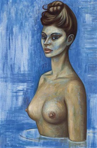 untitled (nude) by raúl anguiano