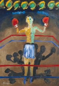 le vainqueur du combat, sous les lampions by daniel jure