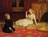 children playing games by james archer