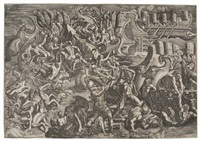 the trojans repelling the greeks by giovanni battista ghisi