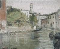 canale a venezia by lino baccarini