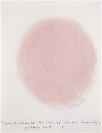 trying to remember the colour of jackie kennedy's pillbox hat (in 10 parts) by spencer finch