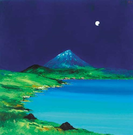 new moon, errigal, county donegal by david gordon hughes