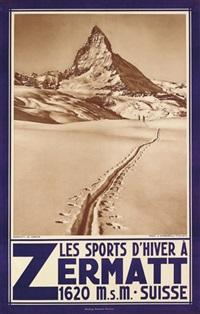 les sports d'hiver á zermatt by jean gaberell