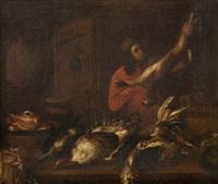 jeune serviteur dans une cuisine by giovanni domenico valentino