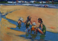 summer day at the beach by gertrude fiske