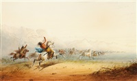 lassoing horses by alfred jacob miller