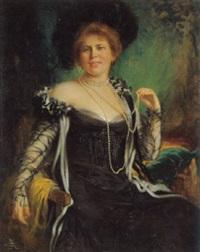 porträt einer dame der gesellschaft by rudolf wimmer