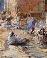 étude d'arabes au soleil, bou saada by georges gasté