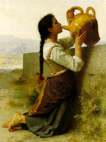 la soif by william adolphe bouguereau
