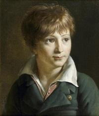 portrait de jeune homme en buste by francois van dorne