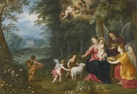 the virgin and child with the infant saint john, surrounded by animals by hendrick van balen the elder and jan brueghel the younger