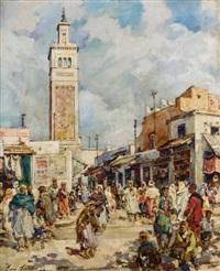 tunis, place du marché by henri saada