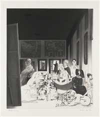 picasso's meninas (from hommage à picasso) by richard hamilton