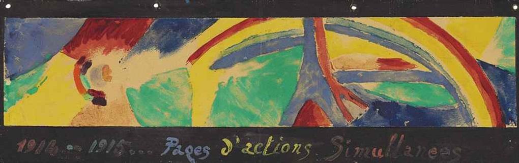 pages dactions simultanées tour eiffel et arc en ciel by robert delaunay