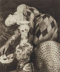harlequin still life by pierre dubreuil