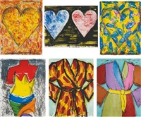 2005 suite (set of 6) by jim dine
