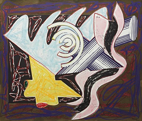a hungry cat ate up the goat plate 2 from illustrations after el lissitzkys had gadya by frank stella
