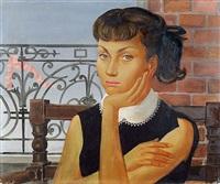 jeune fille au balcon by jean-pierre alaux