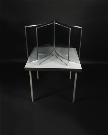 pavillon, semi-circular 2-way mirror by dan graham