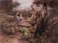 in a cottage garden by william gilbert foster