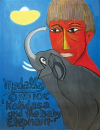 kalidasa and the baby elephant by david medalla