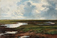 thunderstorm approaching, presumably at saltholm, denmark by carl frederik peder aagaard