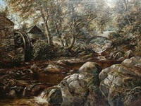 a watermill in wales by william henry waring