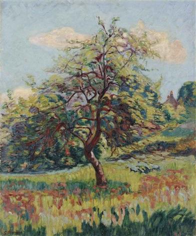 vergers en fleurs à miregaudon by armand guillaumin