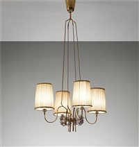 four-armed chandelier by paavo tynell