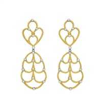 a pair of gold and diamond ear pendants by buccellati