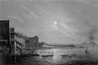 the bay of naples with the vesuvius by ciardi