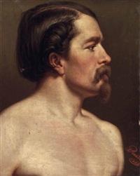 profilbildnis eines unbekleideten jüngeren mannes by peter rauth