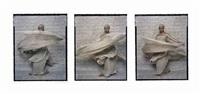 dancer triptych (#8, #10, #12) by lalla essaydi