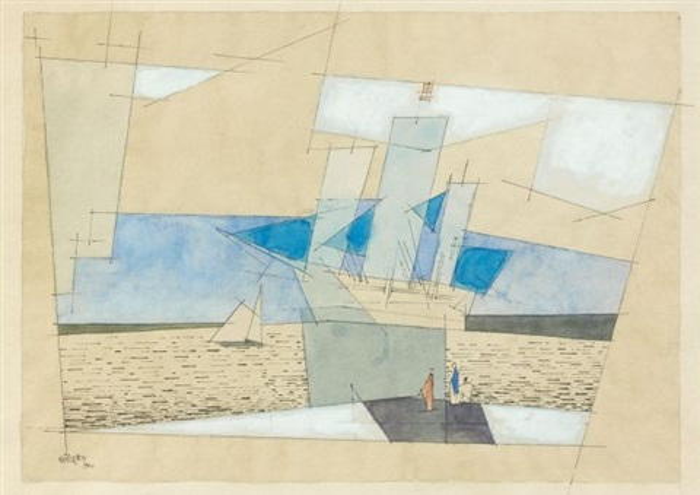 marine au grand voilier by lyonel feininger
